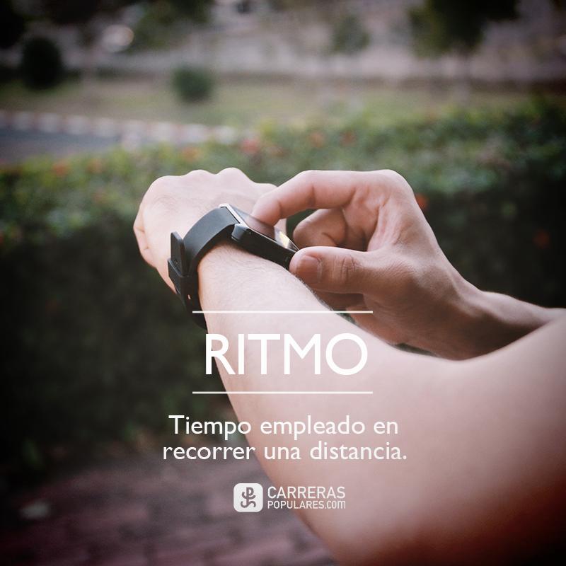 Ritmo: tiempo empleado en recorrer una distancia.