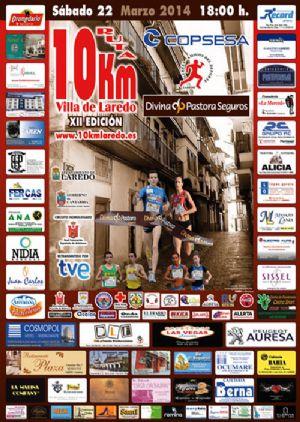 Cartel de la 12 edición de la carrera 10 Km Villa de Laredo