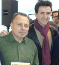 Pep Ribas, organizador de la Milla Urbana Isla de Ibiza, con Juan Carlos Higuero