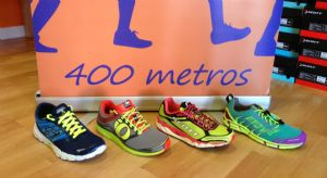 Zapatillas de la comparativa de 400 metros destinadas al natural running