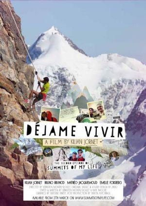 Cartel de la película Déjame Vivir, sobre Kilian Jornet