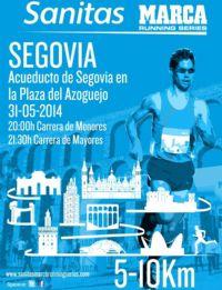 Cartel de la Sanitas Marca Running Series de Segovia
