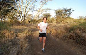 Abharanand Finn, corriendo en Lewa, Kenia