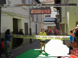 El ganador de la Carrera Garganta de los Infiernos 2014, entrando en meta