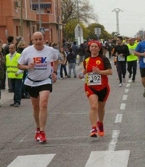 El corredor popular José Copado, en medio de una carrera