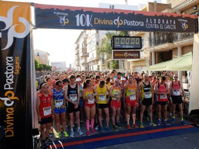 Imagen de la salida de la Carrera de Alboraya contra el Cáncer