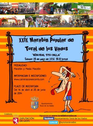 Cartel de la edición 2014 de la Maratón de Toral de los Vados