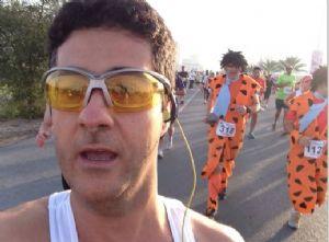 Nacho Villalba,durante una carrera en Dubai