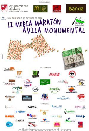 Cartel de la II Edición de la Media Maratón Ávila Monumental