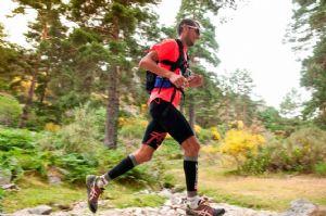 Pablo Villalobos, durante su participación en la Cercedilla Trail Race