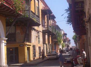 Una de las calles de Cartagena de Indias