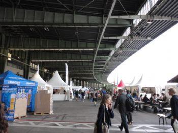 Feria del Maratón de Berlín, en el antiguo aeropuerto de Tempelhof
