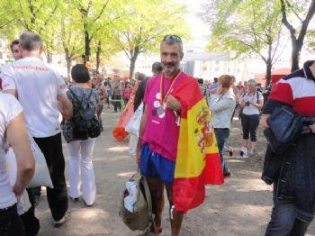 El autor del artículo, José Manuel Torralba, una vez concluida la Maratón de Berlín