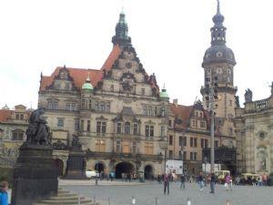 Una de las zonas céntricas de Dresde por donde correr