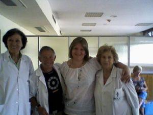 Chadia, durante su estancia en el hospital, con 35 kilos más