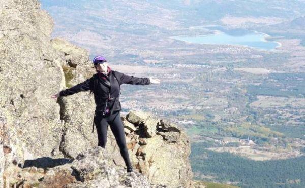 Cristina Osorio, en una de sus salidas a la montaña