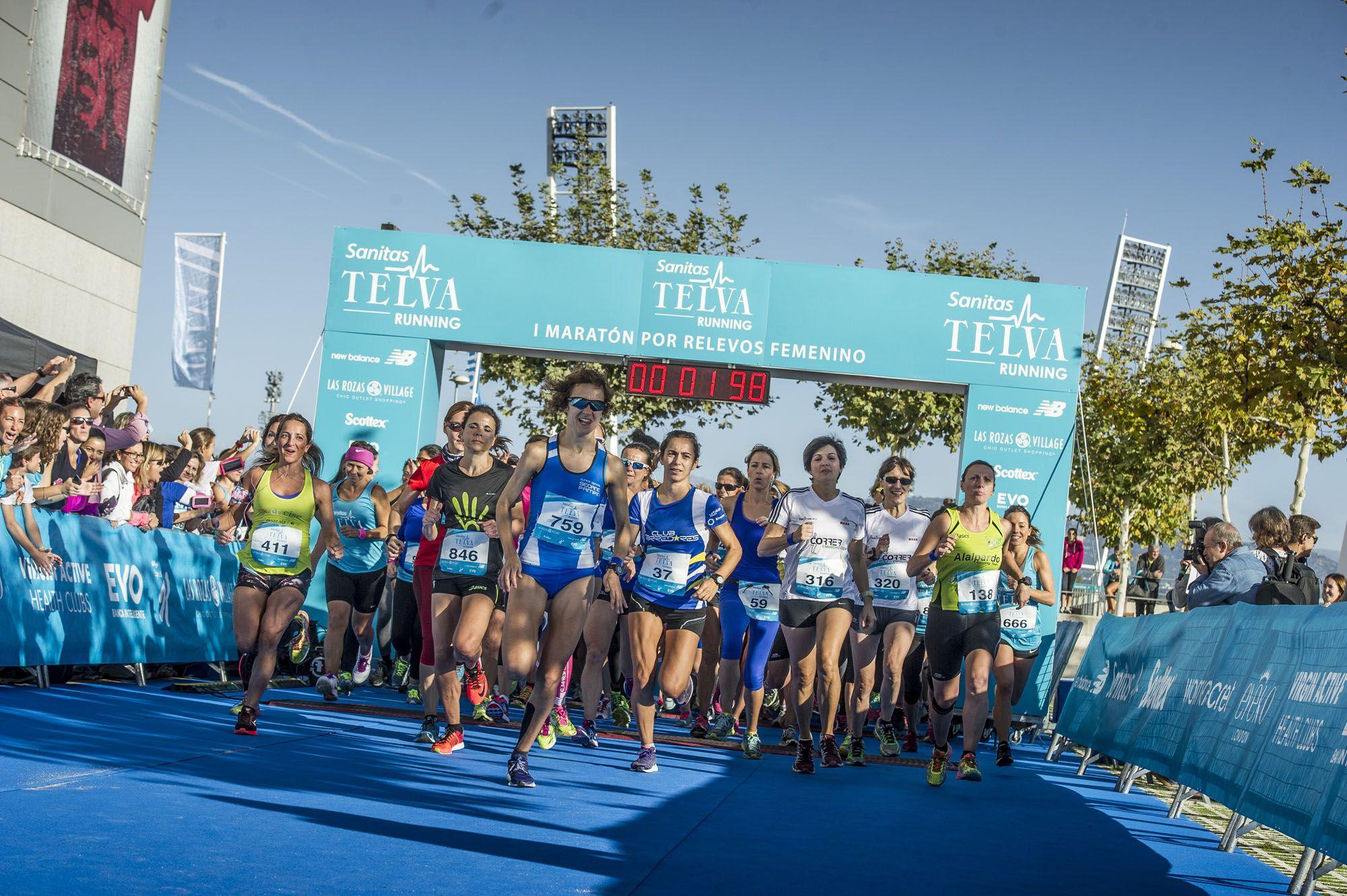 La localidad madrileña de Las Rozas ha acogido el Primer Maratón por Relevos femenino.