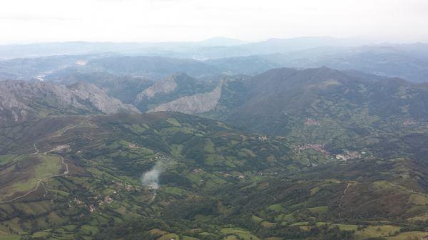 Paisaje que se puede admirar en el punto más alto de la Subida al Angliru