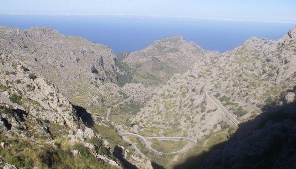 La carretera de Sa Calobra, en Mallorca, lugar de la carrera