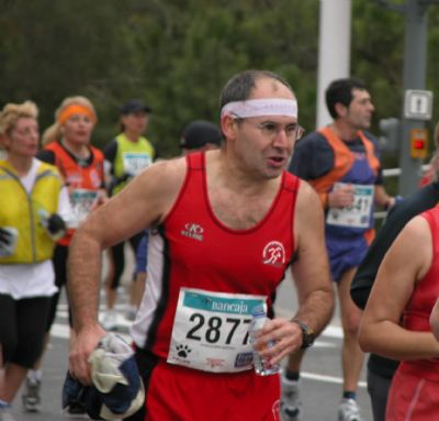 Santiago Hitos ha participado en maratones en todo Europa