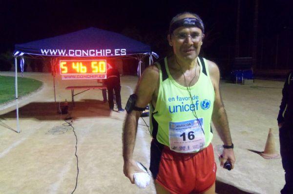 Santiago Hitos, tras participar en la Maratón en Pista en Ceutí