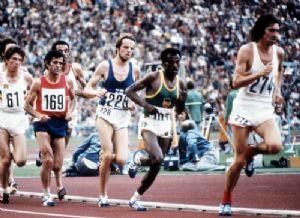 Mariano Haro, con la camiseta de la selección española, durante la final de 10.000 metros en los JJOO de Munich 1972