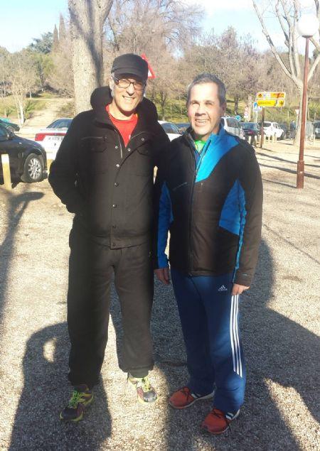 Patxi Saavedra y Roberto Cordero, en la Casa de Campo de Madrid