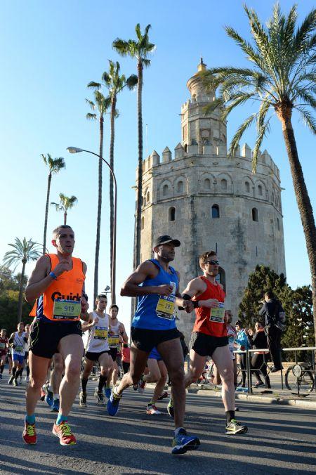 Un momento de la Maratón de Sevilla 2015