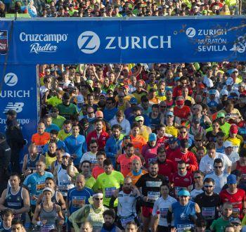 Salida de la Maratón de Sevilla 2015