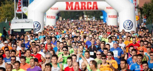 Salida de la Sanitas Marca Running Series de Gijón 2014