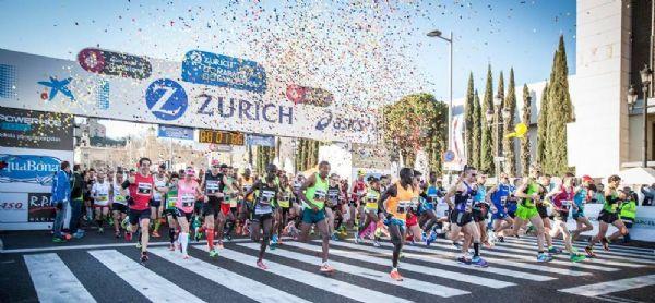 Salida de la Zurich Marató Barcelona el pasado domingo