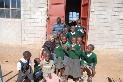 Niños en la escuela de James Moiben en Ziwa, Kenia