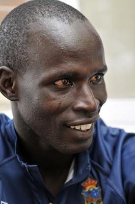 El atleta keniano James Moiben