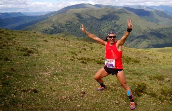 José Luis Basalo, en una carrera de montaña