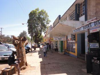 Una calle del Eldoret, en Kenia