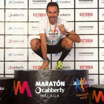 Álvaro Izquierdo, en la Maratón de Málaga, donde consiguió su mejor marca