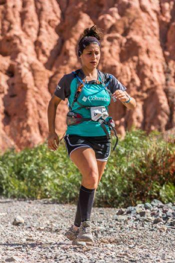 María Marta Nanni, durante una carrera de montaña