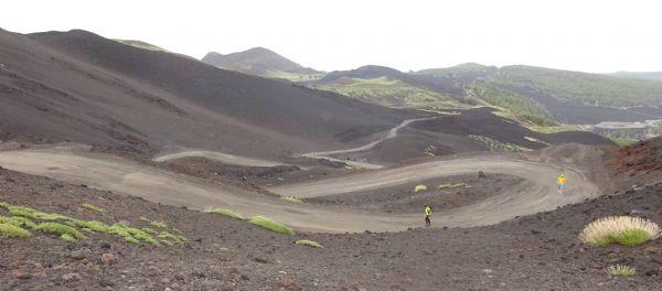 Imagen de las subidas del Etna durante la carrera