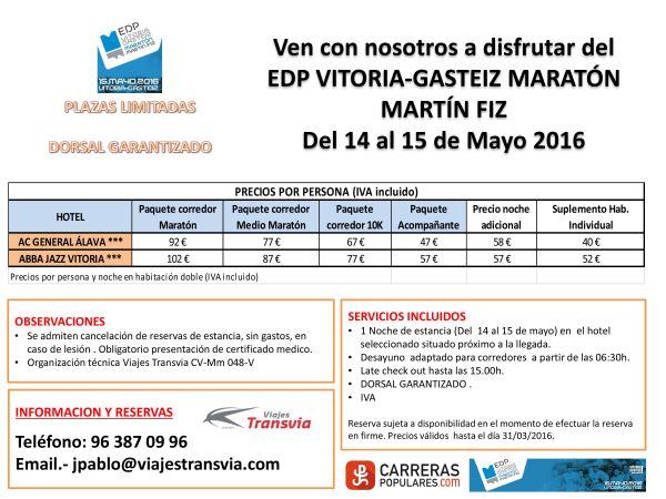 Oferta de dorsal más viaje Maratón Martín Fiz
