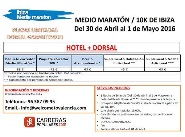 Viaja con nosotros al Medio Maratón de Ibiza