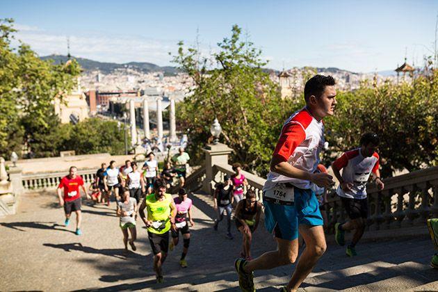 Los participantes han superado cerca de 1.600 escalones. Foto: Salomon Run Barcelona / Guillem Casanova