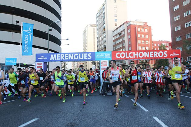 13.000 corredores disputaron esta mañana SANITAS MARCA RUNNING SERIES DERBI DE LAS AFICIONES MADRID