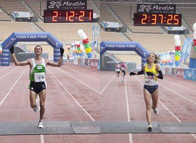 Felicidades Pablo Villalobos y Tamara Sanfabio: 13/02/2011  Campeones de España de Maratón en Sevilla