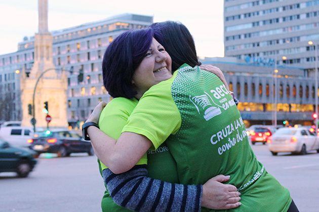 Toñi y Cristina, dos almas corredoras unidas frente al cáncer (FOTO: Samanta Chocrón)