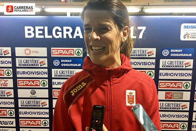 Ruth Beitia inaugura el medallero español de los Europeos de Belgrado en pista cubierta al conseguir la plata con un salto de 1,94m.