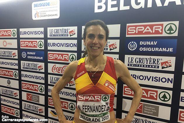 Con su participación en Belgrado, Nuria Fernández se despide de la pista cubierta