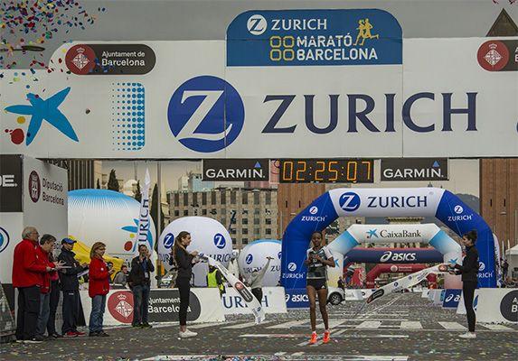 La etíope Helen Bekele, nuevo récord femenino de la Zurich Marató de Barcelona 2017 con un tiempo de 2:25:04
