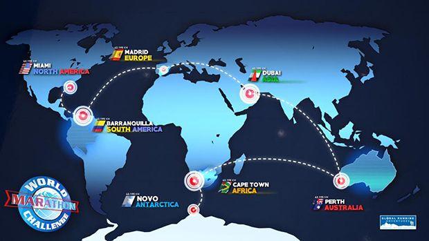Los participantes pasarán más  de 48 horas en aviones durante una semana