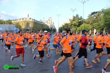 Participantes en la Bimbo Global Energy Race de Madrid en 2016