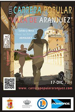 Resultado de imagen de cartel carrera popular aranjuez